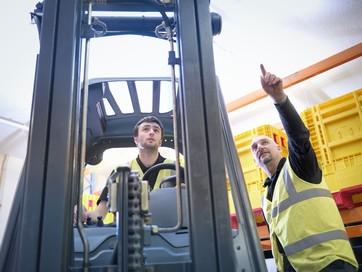 Supervising forklift operators