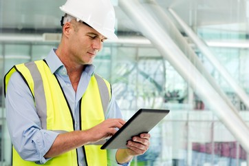 Engineer accessing managment system