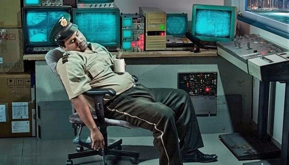Sleeping security guard. Fatigue management